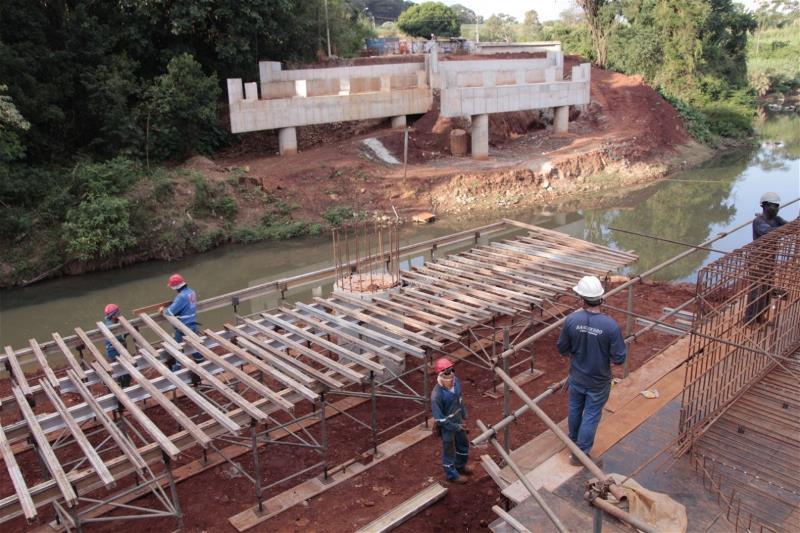 Obras da ponte da Rhodia seguem em ritmo acelerado e deve ser entregue em 4 mese