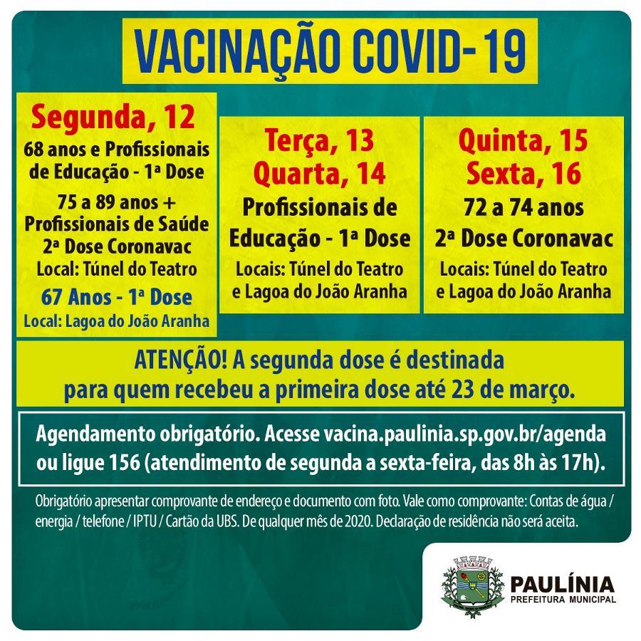 Campanha Municipal de Vacinação Covid-19 - Boletim 11