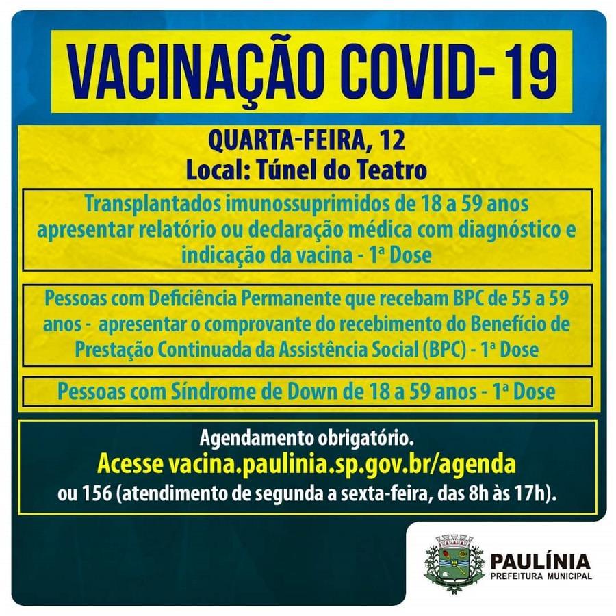 Campanha Municipal de Vacinação contra a Covid-19 – Boletim 21