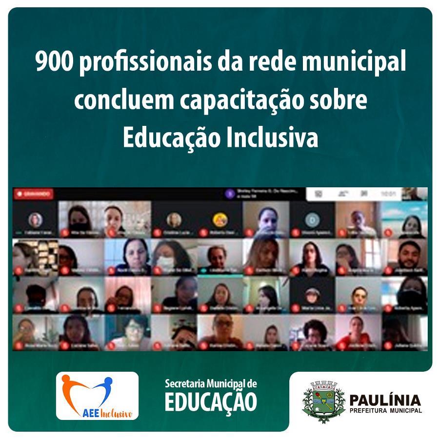 900 profissionais da rede municipal concluem formação sobre educação inclusiva