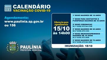 CALENDÁRIO VACINAÇÃO COVID-19