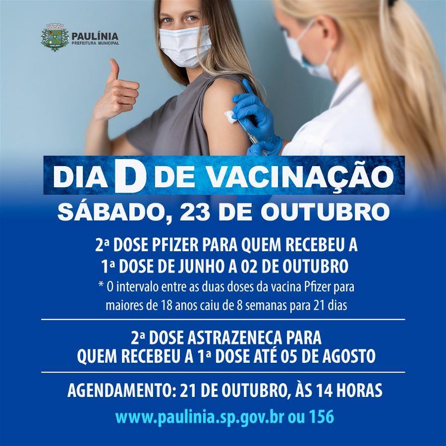 Prefeitura realizará Dia D de Vacinação no sábado