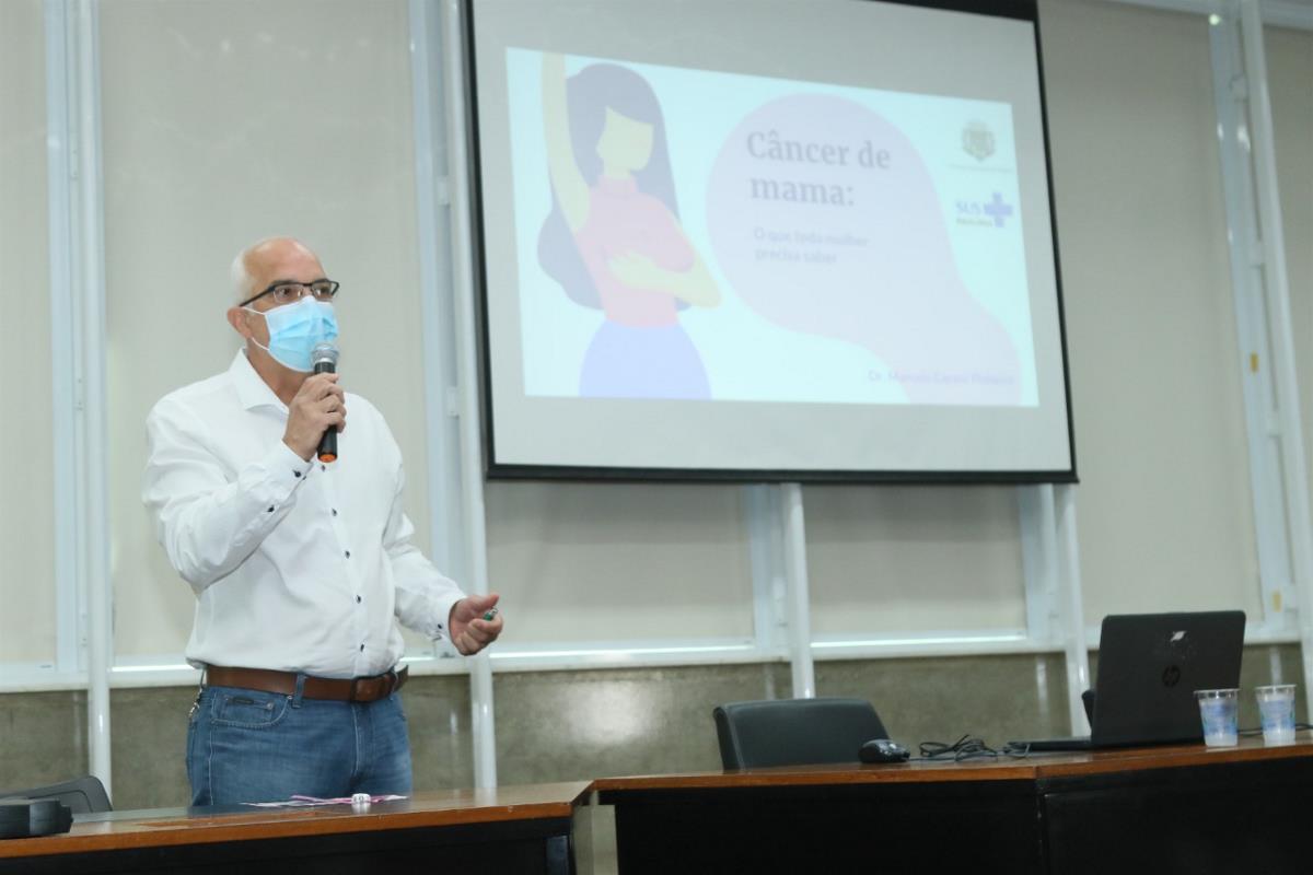 Prefeitura promove palestra sobre câncer de mama