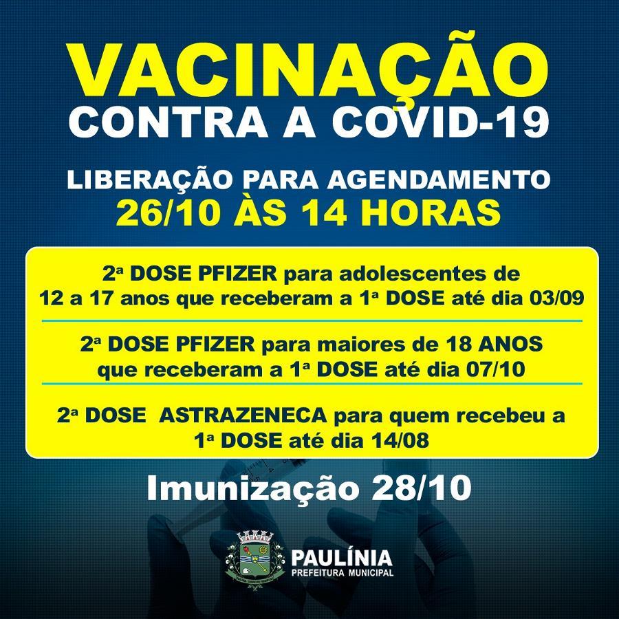 Agendamento para vacinação