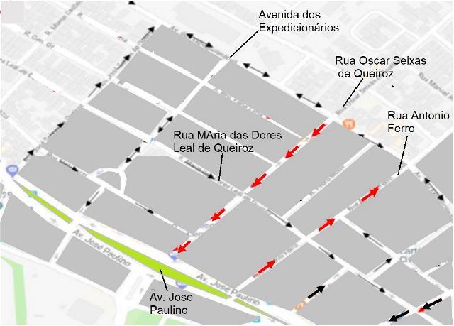 SMTRANS adia operação na Antônio Ferro e Oscar Seixas de Queiros