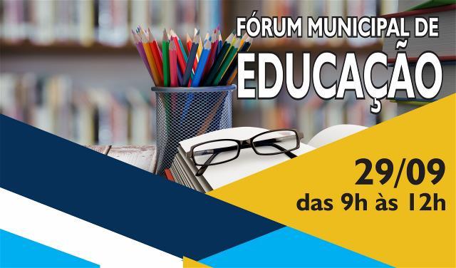 Fórum vai debater diretrizes do Plano Municipal de Educação