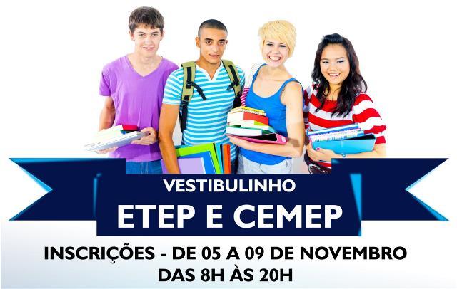 CEMEP e ETEP abrem inscrições para o Vestibulinho em Novembro